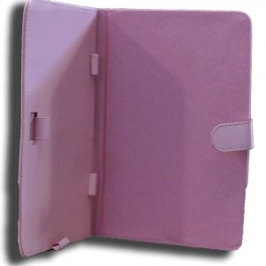 Leader-NALT7-CPINK-LeaderTab7 Folio Case Pink Faux Leather. Camera hole rear