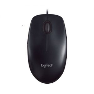 Logitech-910-001795-Logitech M90 USB Wired Optical Mouse 1000dpi for PC Laptop Mac Full Size Comfort smooth mover(L)