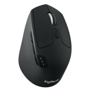 Logitech-910-004792-Logitech M720 Triathlon Multi-Device Wireless Bluetooth Mouse with Flow Cross-Computer Control  File Sharing for PC  Mac Easy-Switch up to 3 Devices