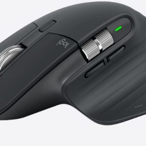 Logitech-910-005698-Logitech MX Master 3 Wireless mouse – Graphite 2.4GHz USB Receiver or Bluetooth Connection