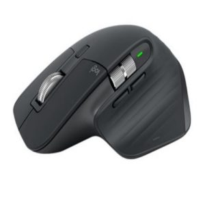 Logitech-910-005710-Logitech MX Master 3S Black Wireless Bluetooth Mouse 4000 DPI 7 Buttons Gesture Auto-Shift Scroll 2.4GHz Unifying receiver Micro-USB Charge Cable