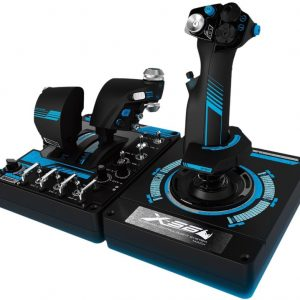 Logitech-945-000058-Logitech G X56 H.O.T.A.S. RGB Throttle  Stick Simulation Controller 6 DOF Pitch Roll Yaw Back Forward Up Down Left Right 4 Springs 189+ Programable