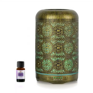 MBEAT-ACA-AD-M1-mbeat® activiva Metal Essential Oil and Aroma Diffuser-Vintage Gold -260ml