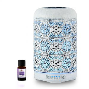 MBEAT-ACA-AD-M2-mbeat® activiva Metal Essential Oil and Aroma Diffuser-Vintage White -260ml (L)