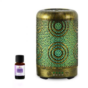MBEAT-ACA-AD-S1-mbeat® activiva Metal Essential Oil and Aroma Diffuser-Vintage Gold -100ml