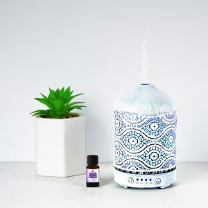 MBEAT-ACA-AD-S2-mbeat® activiva Metal Essential Oil and Aroma Diffuser-Vintage White -100ml