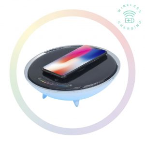 MBEAT-ACA-LED-U1-mbeat® Wireless Charging Station with RGB Colour Lighting Charging Stand - Compatible with iPhone 8/8 PLUS/X/Galaxy S8(L)
