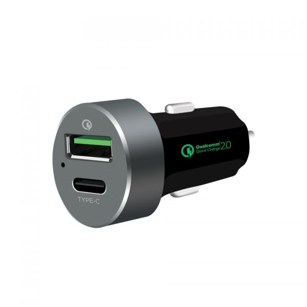 MBEAT-MB-CHGR-QBC-mbeat® QuickBoost USB 2.0  USB Type-C Dual Port Car Charger -  Certified Qualcomm Quick Charge 2.0 technology /Fast Charging/ Samsung Galaxy Note