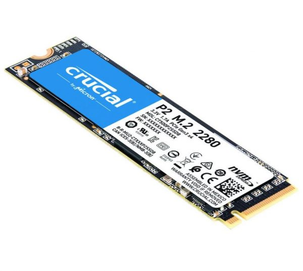 Micron (Crucial)-CT1000P2SSD8-Crucial P2 1TB PCIe M.2 NVMe SSD 2400/1800 MB/s R/W 300TBW 1.5M hrs MTTF Acronis True Image Cloning Software 5yrs wty ~CT1000P1SSD8