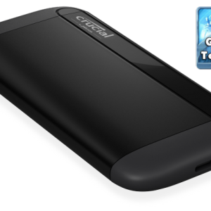 Micron (Crucial)-CT1000X8SSD9-Crucial X8 1TB External Portable SSD ~1050MB/s USB3.2 USB-C USB3.0 USB-A Durable Rugged Shock Proof for PC MAC PS4 Xbox Android iPad Pro