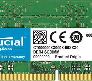 Micron (Crucial)-CT16G4SFD832A-Crucial 16GB (1x16GB) DDR4 SODIMM 3200MHz CL22 1.2V Dual Ranked 2Rx8 Notebook Laptop Memory RAM  ~KVR26S19D8/16