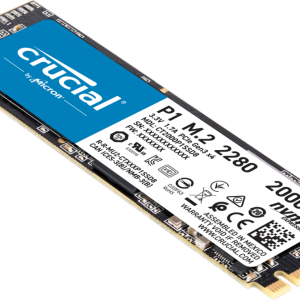 Micron (Crucial)-CT2000P1SSD8-Crucial P1 2TB M.2 NVMe SSD 2000/1700 MB/s R/W 400TBW 1.8mil hrs MTTF Acronis True Image Cloning Software 5yrs wty