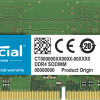 Micron (Crucial)-CT32G4SFD8266-Crucial 32GB (1x32GB) DDR4 SODIMM 2666MHz CL19 1.2V Dual Ranked Single Stick Notebook Laptop Memory RAM