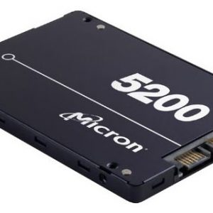 """Micron (Crucial)-MTFDDAK960TDC-1AT16ABYY-Micron 5200 ECO 960GB 2.5"""" SATA3 6Gbps 1DWPD SSD 3D TLC NAND 540R/520W MB/s 95K/28K IOPS 7mm Server Data Centre 3 Mil hrs 5yrs Crucial"""