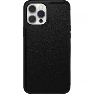 Otterbox-77-65420-OtterBox Apple iPhone 12 and iPhone 12 Pro Strada Series Case - Shadow Black