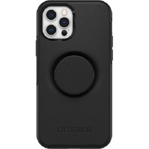 Otterbox-77-65436-Otterbox Apple iPhone 12 and iPhone 12 Pro Otter + Pop Symmetry Series Case - Black