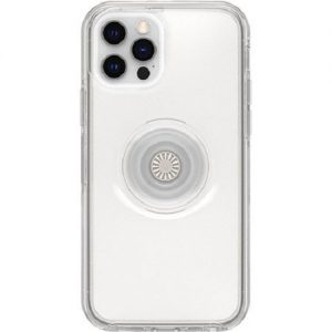 Otterbox-77-65771-Otterbox Apple iPhone 12 and iPhone 12 Pro Otter + Pop Symmetry Series Clear Case - Clear