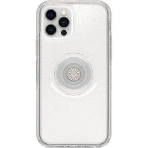 Otterbox-77-66228-Otterbox Apple iPhone 12 and iPhone 12 Pro Otter + Pop Symmetry Series Clear Case - Stardust Pop
