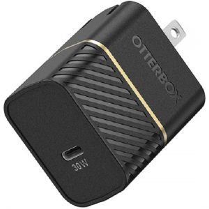 Otterbox-78-80485-OtterBox 30W USB-C GAN Fast Charge Wall Charger - Black Shimmer - Small  fast