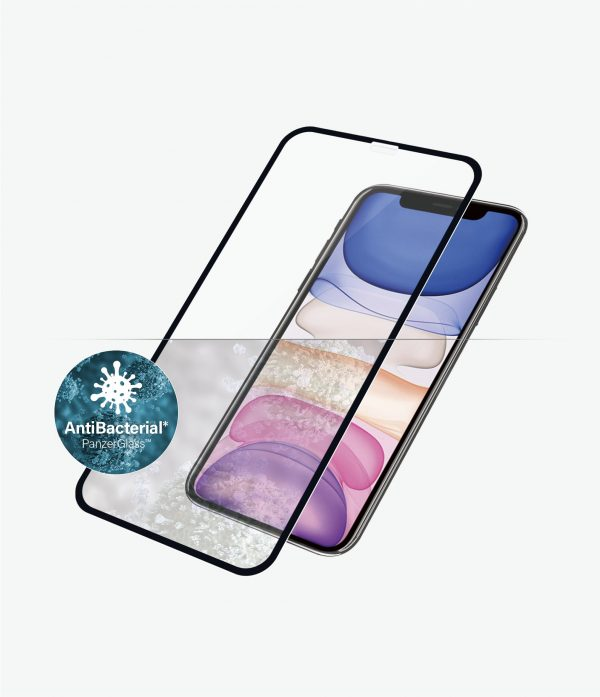 Panzer Glass-2665-PanzerGlass Edge-to-Edge Screen Protector for Apple iPhone XR / iPhone 11 - Black - Full frame coverage