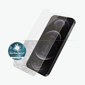 Panzer Glass-2708-PanzerGlass Screen Protector - Case Friendly - For Apple iPhone 12 /  iPhone 12 Pro Antibactrial Glass