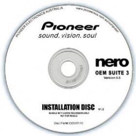 Pioneer-IDDVR110-Pioneer Software Nero Suite 3 OEM Version 6.6 - Play Edit Burn  Share Blu-ray  3D contents - PowerDVD10 InstantBurn5.0 Power2Go8.0 PowerProducer5.5