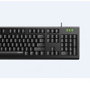 Rapoo-X120-PRO-RAPOO X120pro - Wired Keyboard and Mouse Combo Optical Combo Black / 1600dpi / Spill Resistant