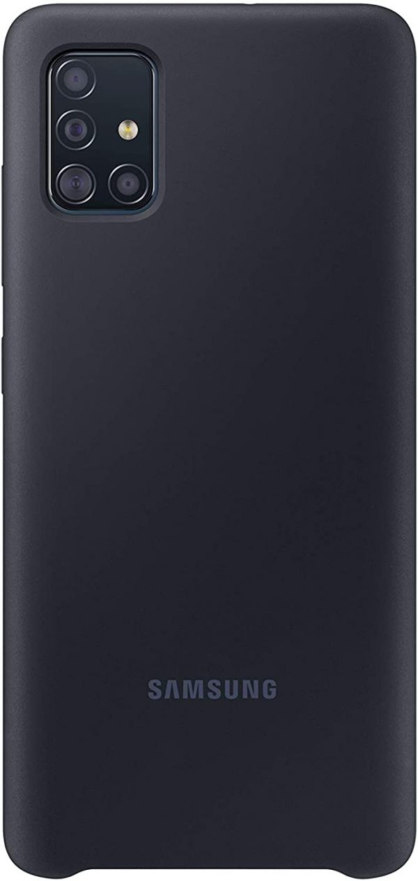 Samsung-EF-PA515TBEGWW-SAMSUNG GALAXY A51 SILICONE COVER BLACK-  Designed To Protect From Shocks And Bumps