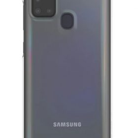 Samsung-GP-FPA217WSATW-SAMSUNG GALAXY A21S PREMIUM HARD BACK CASE TRANSPARENT- HARD CASE SOFT AND COMFORTABLE TO HOLD