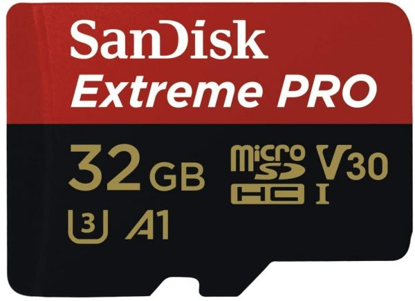 Sandisk-SDSQXCG-032G-GN6MA-SanDisk 32GB microSD Extreme Pro SDHC SQXCG 100MB/s 90MB/s V30 U3 C10 UHS-1 4K UHD Shock temperature water  X-ray proof with SD Adaptor