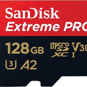 Sandisk-SDSQXCY-128G-GN6MA-SanDisk 128GB microSD Extreme Pro SDHC SQXCG 170MB/s 90MB/s V30 U3 C10 UHS-1 4K UHD Shock temperature water  X-ray proof with SD Adaptor