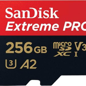 Sandisk-SDSQXCZ-256G-GN6MA-SanDisk 256GB microSD Extreme Pro SDHC SQXCG 170MB/s 90MB/s V30 U3 C10 UHS-1 4K UHD Shock temperature water  X-ray proof with SD Adaptor