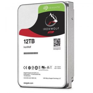 """Seagate-ST12000VN0008-Seagate 12TB 3.5"""" IronWolf SATA3 NAS 24x7 7200RPM Performance HDD (ST12000VN0008) 3 Years Warranty"""