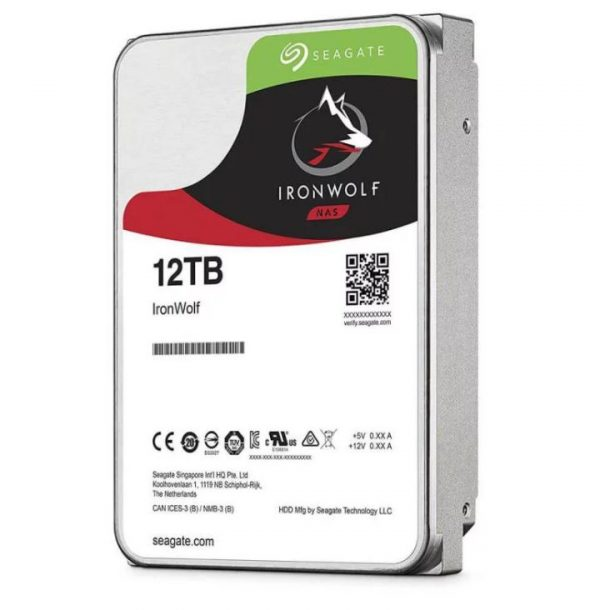 "Seagate-ST12000VN0008-Seagate 12TB 3.5"" IronWolf SATA3 NAS 24x7 7200RPM Performance HDD (ST12000VN0008) 3 Years Warranty"
