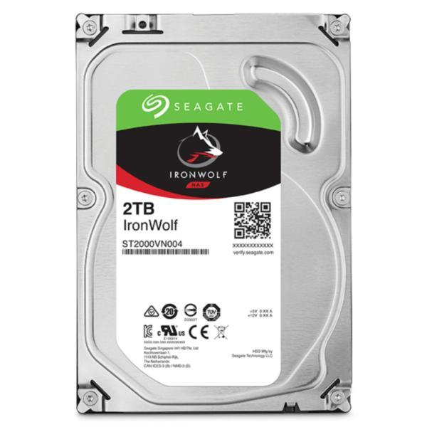 """Seagate-ST2000VN004-Seagate 2TB 3.5"""" IronWolf NAS 5900RPM SATA3 6Gb/s 64MB HDD. 3 Years Warranty"""