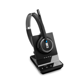 Sennheiser-1000630-EPOS | Sennheiser Impact SDW 5066 DECT Wireless Office Binaural headset w/ base station