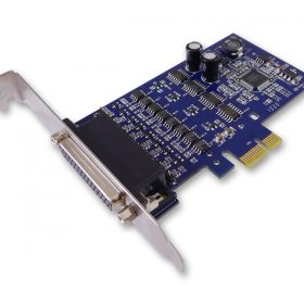 Sunix-IPCE3204S-Sunix IPCE3204S PCIE 4-Port 3 in 1 RS 232/422/485 Surge Protection Card with DB9M connector; Support Windows