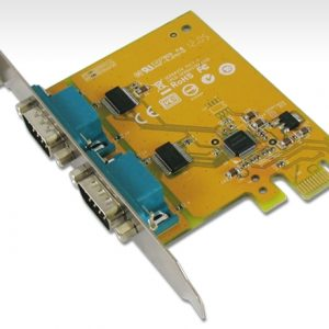 Sunix-SER6437A-Sunix PCIE 2 Port Serial Card Full Height Expansion RS-232 - It is compatible with PCI Express x1