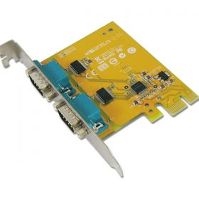Sunix-SER6437AL-Sunix SER6437A PCIE 2-Port Serial RS-232 Card Low Profile - Add-on Card - Compatible with PCI Express x1