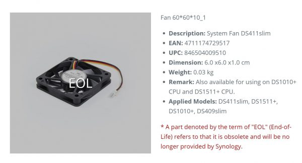 Synology-BASY-DS411FAN-Synology DS411 REPLACEMENT FAN