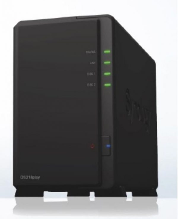 """Synology-DS218PLAY-Synology DiskStation DS218PLAY 2-Bay 3.5"""" Diskless 1xGbE NAS (HMB)"""