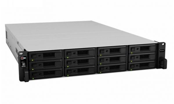 """Synology-RX1217RP-Synology Expansion Unit RX1217RP 12-Bay 3.5"""" Diskless NAS (2U Rack) (SMB/ENT) for Scalable NAS Models RS3617 with redundant power supplies"""
