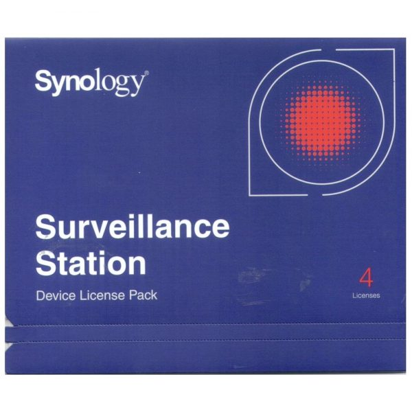 Synology-license PK (4)-Synology Surveillance Device License Pack For Synology NAS - 4 Additional Licenses