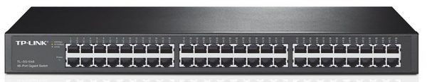TP-LINK-TL-SG1048-TP-Link TL-SG1048 48-Port Gigabit Rackmount Switch 19-inch rack-mountable steel case 96Gbps Switching Capacity IEEE 802.3x flow control Auto MDI/MDIX