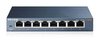 TP-LINK-TL-SG108-TP-Link TL-SG108 8-Port Gigabit Desktop Switch Steel Case Fanless 11.9Mpps Support 802.1p/DSCP QoS1 and IGMP Snooping Plug  Play