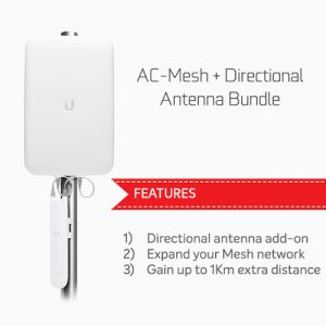Ubiquiti-NHU-AC-M-D-BUN-Ubiquiti Unifi AC Mesh  Directional Antenna Bundle - Combines UAP-AC-M and UMA-D for a long range Mesh coverage solution
