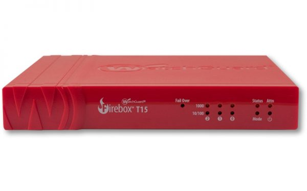 Watchguard-WGT15001-WW-WatchGuard Firebox T15 with 1-yr Standard Support (WW) - Only available to WGOne Silver/Gold Partners