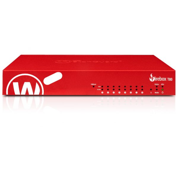 Watchguard-WGT80003-AU-WatchGuard Firebox T80 with 3-yr Standard Support (AU) - Only available to WGOne Silver/Gold Partners