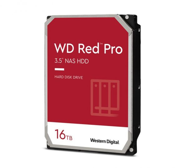 "Western Digital-WD161KFGX-Western Digital WD Red Pro 16TB 3.5"" NAS HDD SATA3 7200RPM 512MB Cache 24x7 NASware 3.0 CMR Tech 5yrs wty"