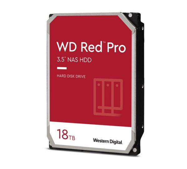 "Western Digital-WD181KFGX-Western Digital WD Red Pro 18TB 3.5"" NAS HDD SATA3 7200RPM 512MB Cache 24x7 NASware 3.0 CMR Tech 5yrs wty"